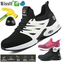 Womens Indestructible Safety Work Shoes Steel Toe Boots Lightweight Air Sneakers