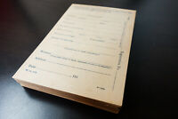 US Mint 1918 WWI War-Savings Registration Application Collection