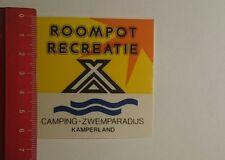 Aufkleber/Sticker: Camping Zwemparadijs Roompot Recreatie (16011744)