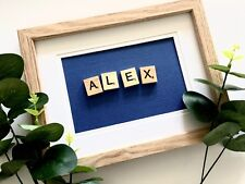 Personalised Baby / Child Name Frame - Scrabble Nursery Frame Kids Decor