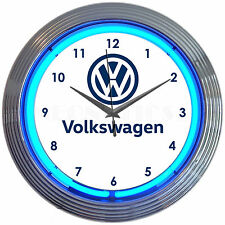 Volkswagen VW Neon Clock - Beetle - Bug - Jetta - Golf - VDUB - Vintage - Dealer
