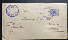 1914 Colombia Commercial Cover To Vienna Austria Via New York