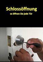 BUCH Schlossöffnung Tür öffnen knacken Lockpicking Dietrich pickset Werkzeug key