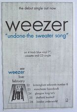 WEEZER 1994 Advert UNDONE THE SWEATER SONG