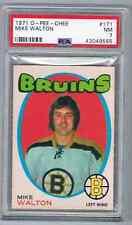 1971-72 O-PEE-CHEE MIKE WALTON PSA 7 BOSTON BRUINS #171