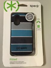 NEW SPECK FITTED HARD SHELL CASE COVER FOR HTC AMAZE 4G ColorBar Teal/Black