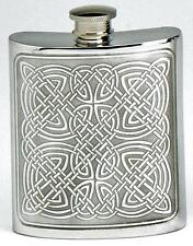 Celtic Panel Pewter 6oz Hipflask