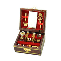 1/12 1/6 Doll House Woooden Miniature Jewellery Box Furniture Ornaments Accs