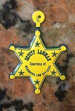 "Vintage Nebraska Lawman Toy Badge 2.5"" NOS"
