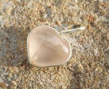 Natural rose quartz mini puffed heart crystal gemstone healing pendant