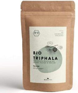BioNutra® Triphala-Pulver Bio 250g, pulverform, Rohkost, faire Produktion.