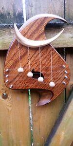 Vintage 1989 Scott Deming Handmade Wood Art Musical Doorbell Chime Rare!!!
