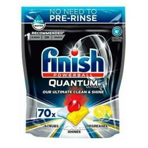 Finish Powerball Quantum Ultimate Lemon Sparkle Dishwasher Tablets Pack Of 70