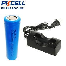 1x 18650 Li-ion Rechargeable Vape Batteries 3.7V 2600mAh Flat Top& 18650 Charger