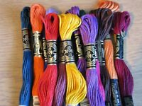 DMC  8MTR STRANDED THREADS PYO COLOURS AND QUANTITY FROM DROPDOWN FREE PP UK