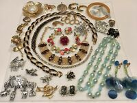 Vintage Necklace Bracelet Pin Earrings Lot Jewelry Monet JJ +++ Signed & Un