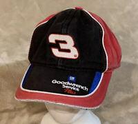 VTG Dale Earnhardt #3 Goodwrench Service Adult OSFA Strapback Hat Cap NASCAR RCR