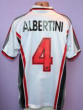 ALBERTINI # 4 AC MILAN 1997/1998 AWAY SHIRT LOTTO OPEL SIZE XL