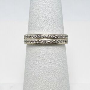 Two Hearts on Fire Diamond 18k Gold Anniversary Rings Bands (8864)
