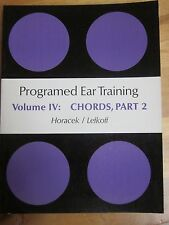 programmed ear training volume 4:chords,part 2,new'old stock',392 pages