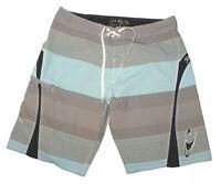 O'Neill Surf SUPER FREAK Board Shorts Shorts Swim Trunks Striped Men's Size 38