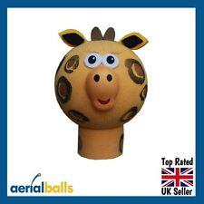 Cute Giraffe Car Aerial Ball Antenna Topper or use as a Dashboard Wobbler