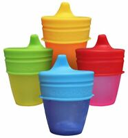 Kupp/' Glass BPA Free 6 oz Drinking Cup with Silicone Handle for Kids Blue #1-3