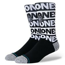 Stance Men's The Ramones Socks Black Clothing Apparel Footwear Active Skatebo.