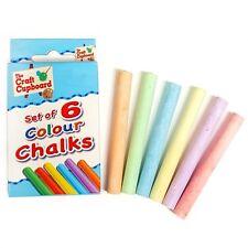 12pk Craft Planet Coloured Chalks
