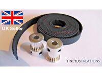 GT2 10mm Timing Belt and Pulleys 17 Teeth 5mm Bore, Prusa Reprap 3d printer part