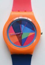 Orange Crush watch - Retro 80s Designer Wristwatch