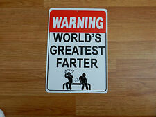 WARNING World's Greatest Farter ... - *Plastic Novelty Sign