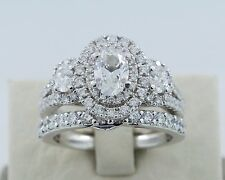 14k White Gold Vera Wang LOVE Collection 2.2TCW Diamond and Sapphire Bridal Set