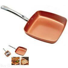 9.5 Square Fry Pan The Stainless Steel Induction Plate Means No Hot Spots Cook