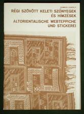 BOOK Antique Oriental Carpet & Embroidery weaving textile Transylvania Caucasian