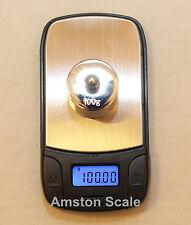 100 x .01 GRAM DIGITAL POCKET SCALE GRAIN CARAT TROY OUNCE RELOAD COIN SILVER