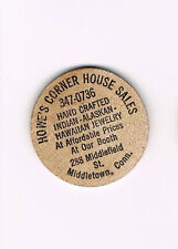 Vintage Wooden Nickel Howe's Corner House Sales Indian Alaskan Hawaiian Jewelry