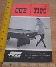 Frederick Willys Cue Tips pool billiards catalog 1968 Sexy Dealer brochure