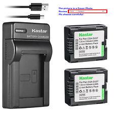 Kastar Battery Slim Charger for Panasonic CGR-DU07 CGA-DU07 & NV-GS230 NV-GS250