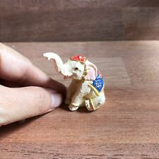 White Resin Elephant Figurine Doll Wild Animals Collectibles