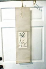 Vintage Chinese CHAO LIANG CHOW Fine Arts Bamboo Ink Calligraphy Scroll Original