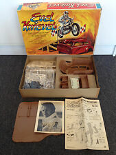 1974 Addar EVEL KNIEVEL 1/12 scale *100% complete with Fan Photo - CLEAN Box!