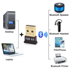 New Mini USB Bluetooth Adapter CSR Dual Mode Receiver for Windows 10/8/7/XP V4.0