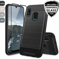 For Samsung Galaxy A10e Phone Case Cover, Shockproof Slim Brushed Armor Rubber