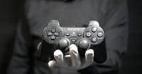 Official Playstation 2 Controller Black - 'The Masked Man'