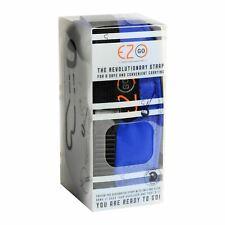 Ez-go Moto Casco Porta Cinturino con Micrometrico Cinghia Blu