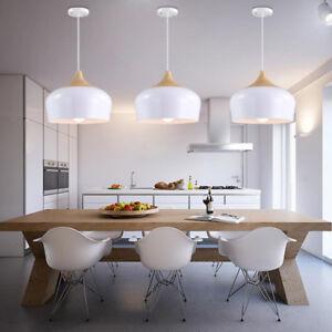 Modern Pendant Light Kitchen Chandelier Light Wood Ceiling Lights Bar White Lamp