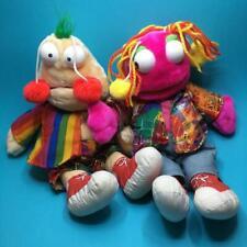 Vintage Zig & Zag Big Breakfast Chris Evans Plush Soft Toy Hand Puppets 1990s