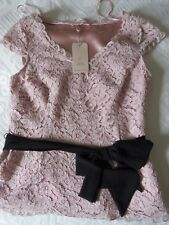JACQUES VERT 8 B.N.W.T PALE PEACH LINED SP OCCASION TOP OPTIONAL BELT