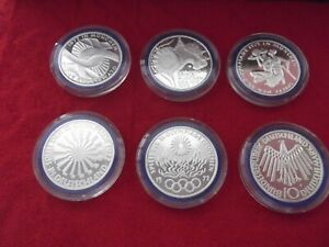 OLYMPICS 1972 MUNICH 6 COIN SET PROOF